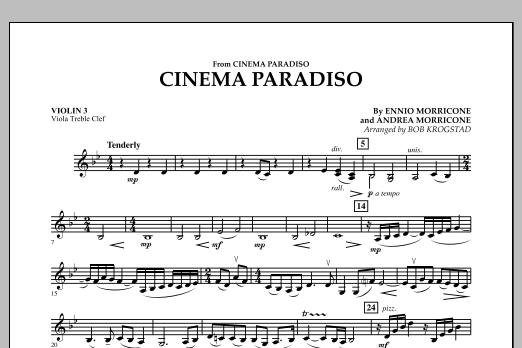 Cinema Paradiso - Violin 3 (Viola Treble Clef) (Orchestra)