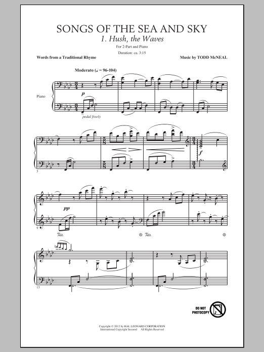 Songs Of The Sea And Sky Sheet Music