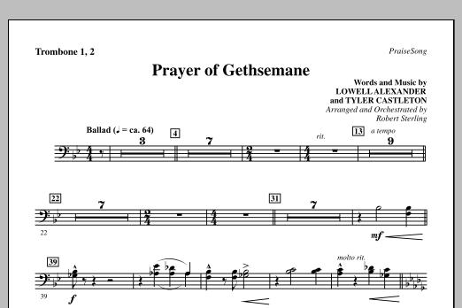 Prayer Of Gethsemane - Trombone 1 & 2 (Choir Instrumental Pak)