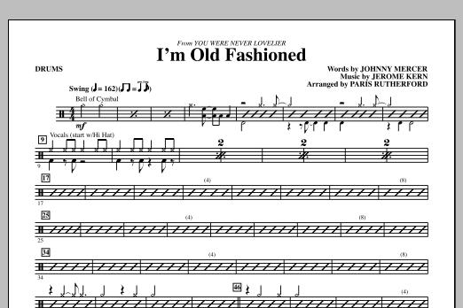 I'm Old Fashioned - Drums (Choir Instrumental Pak)
