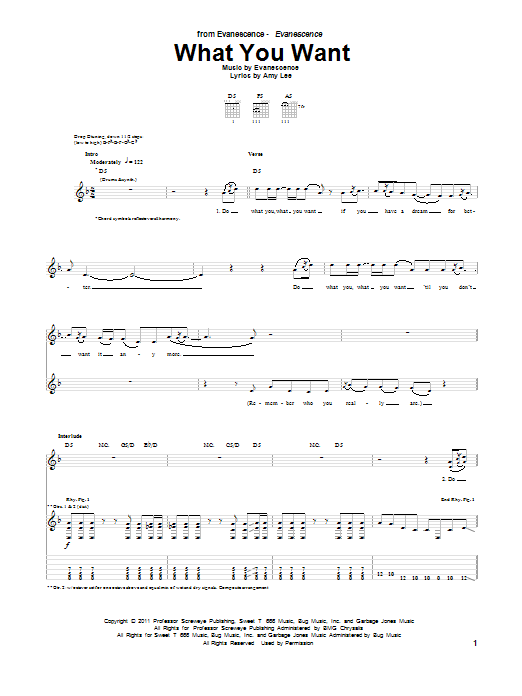 What You Want Sheet Music