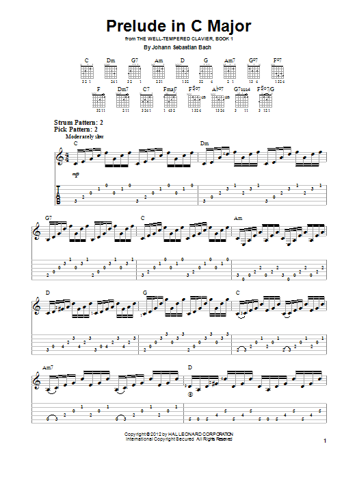 Prelude In C Major Sheet Music