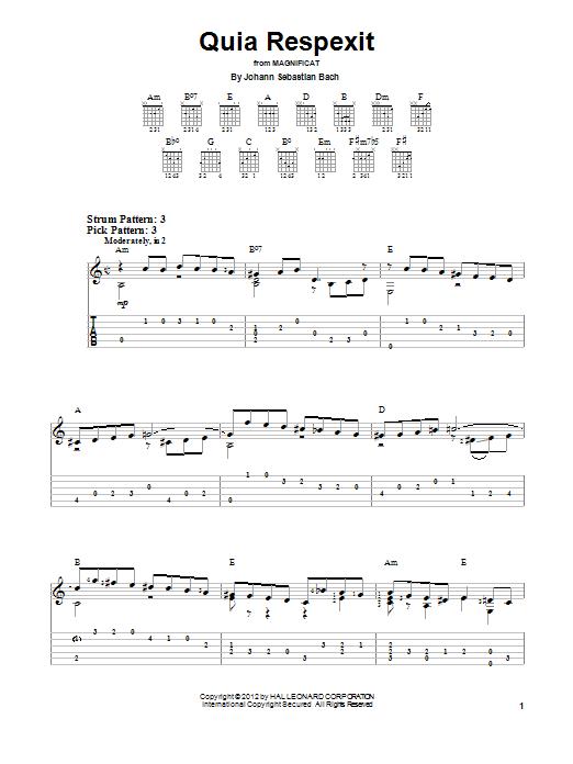 Quia Respexit Sheet Music