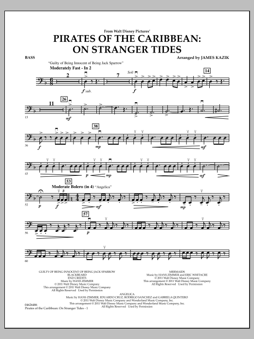 Pirates Of The Caribbean: On Stranger Tides - Bass (Orchestra)