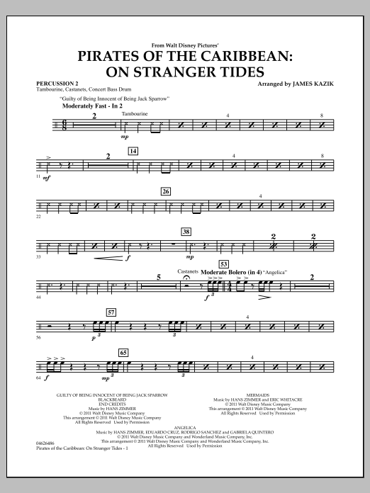 Pirates Of The Caribbean: On Stranger Tides - Percussion 2 (Orchestra)