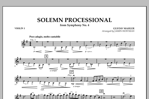 """Solemn Processional (from """"Symphony No. 4"""") - Violin 1 Sheet Music"""