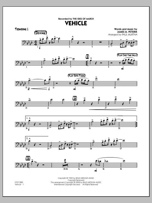 Vehicle - Trombone 1 (Jazz Ensemble)