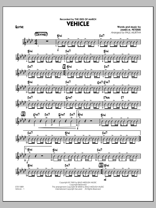 Vehicle - Guitar (Jazz Ensemble)