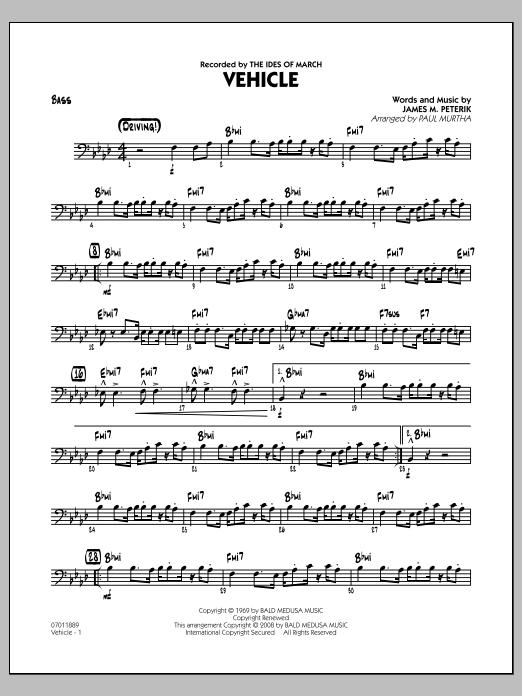 Vehicle - Bass (Jazz Ensemble)