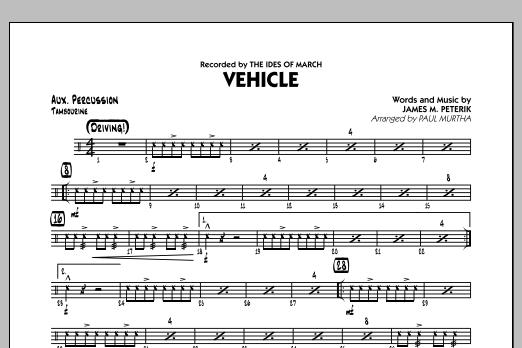 Vehicle - Aux Percussion (Jazz Ensemble)