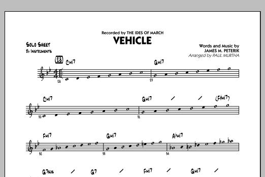 Vehicle - Bb Solo Sheet (Jazz Ensemble)