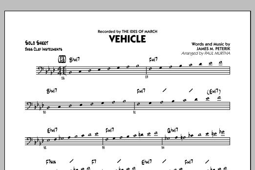 Vehicle - Bass Clef Solo Sheet (Jazz Ensemble)