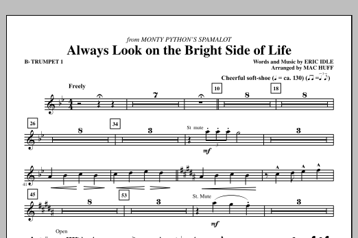 Always Look On The Bright Side Of Life (complete set of parts) sheet music for orchestra/band (chamber ensemble) by Mac Huff and Eric Idle. Score Image Preview.