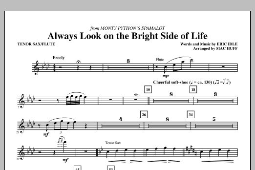 Always Look On The Bright Side Of Life Tenor Saxflute Sheet