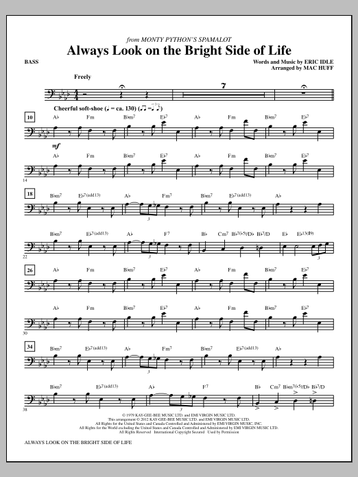 Always Look On The Bright Side Of Life - Bass | Sheet Music Direct