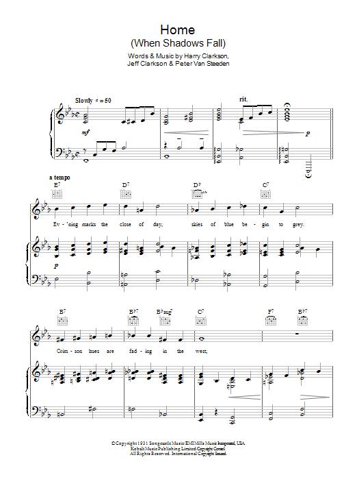 Home (When Shadows Fall) Sheet Music