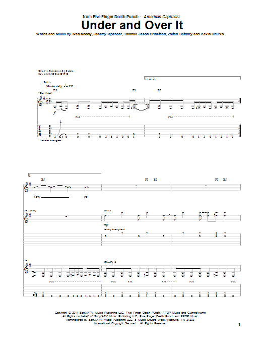 Under And Over It (Guitar Tab)