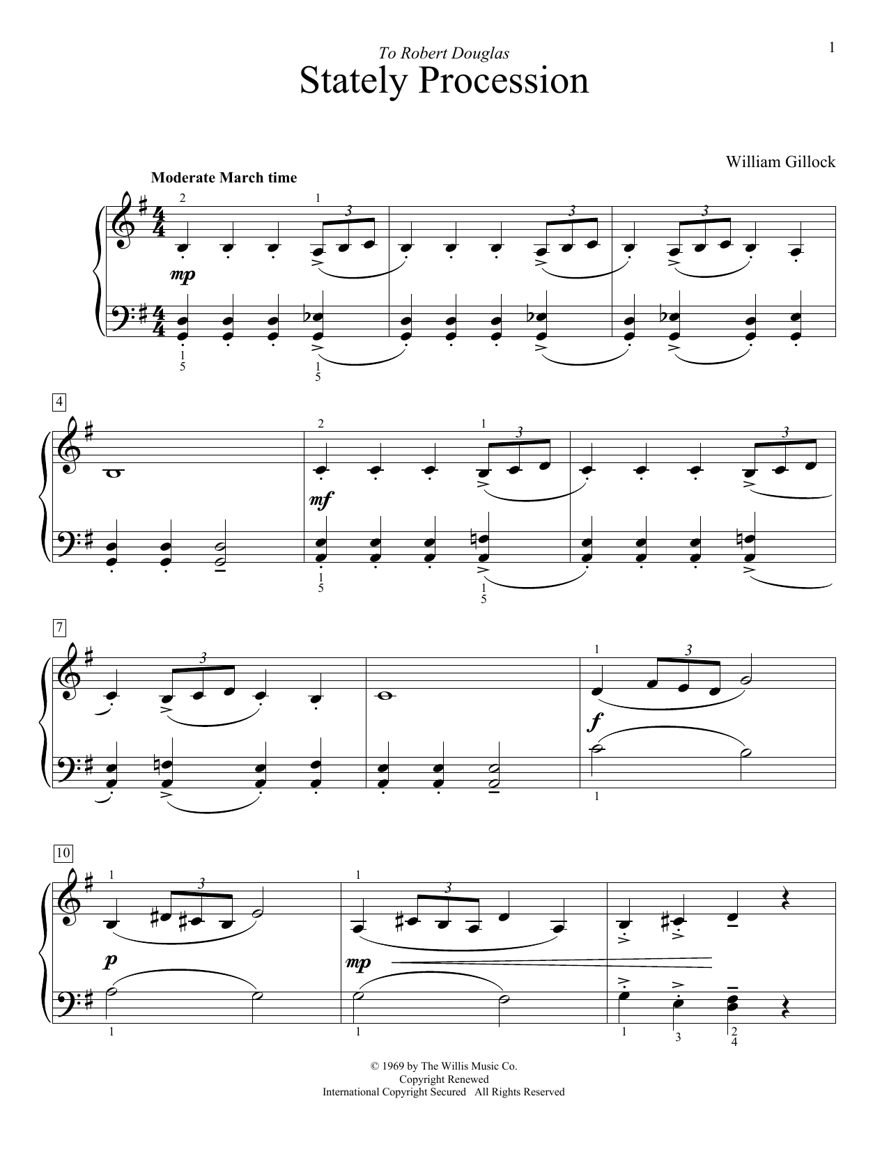 Stately Procession Sheet Music