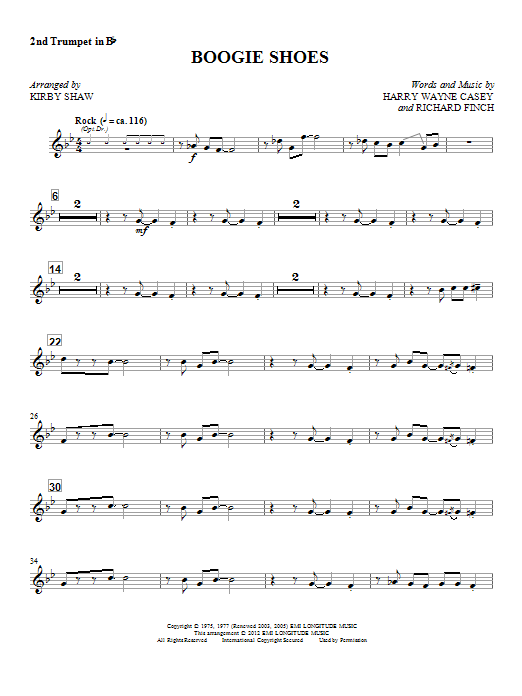 Boogie Shoes - Trumpet 2 Sheet Music
