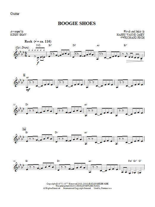 Boogie Shoes - Guitar (Choir Instrumental Pak)