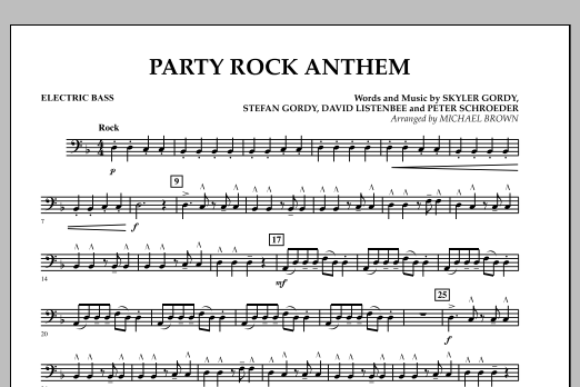 Party Rock Anthem - Bass (Concert Band)