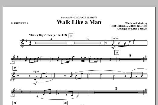 Walk Like A Man - Bb Trumpet 1 (Choir Instrumental Pak)