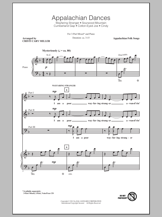 Appalachian Dances (Medley) Sheet Music