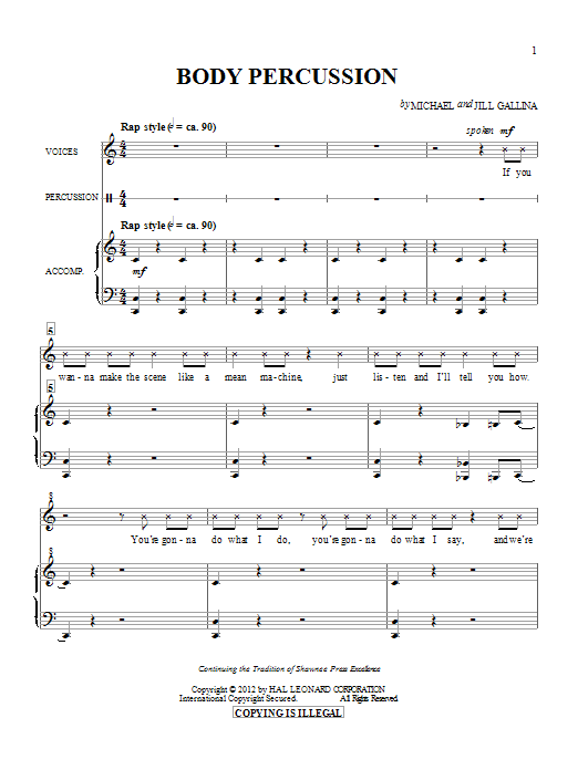 Body Percussion Sheet Music