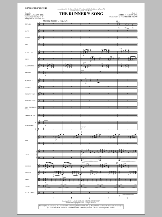 The Runner's Song (complete set of parts) sheet music for orchestra/band (Orchestra) by Joseph M. Martin. Score Image Preview.