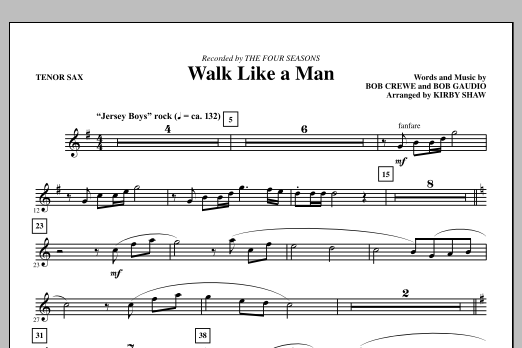 Walk Like A Man - Tenor Sax (Choir Instrumental Pak)