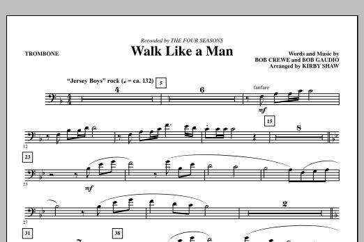 Walk Like A Man - Trombone (Choir Instrumental Pak)