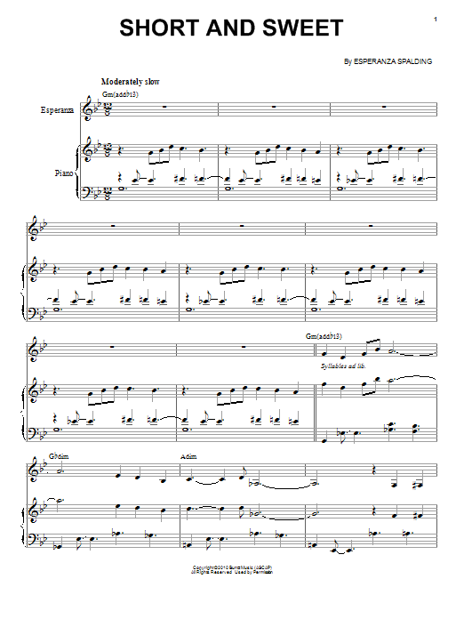 Short And Sweet Sheet Music