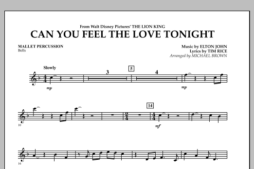 "Can You Feel The Love Tonight? (from ""The Lion King"") - Mallet Percussion (Concert Band)"