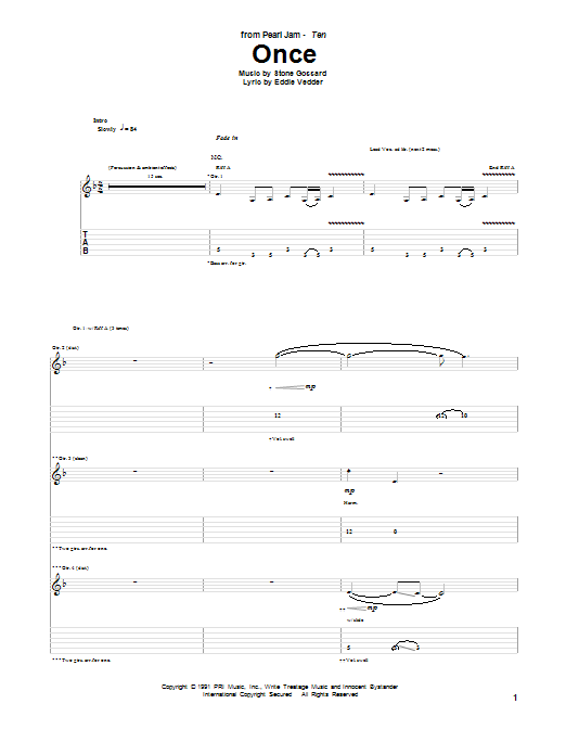 Once (Guitar Tab)