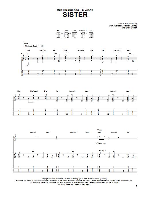 Sister Sheet Music