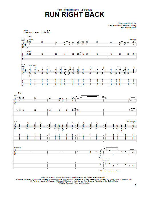 Run Right Back Sheet Music