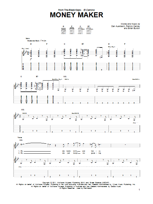 Money Maker Sheet Music