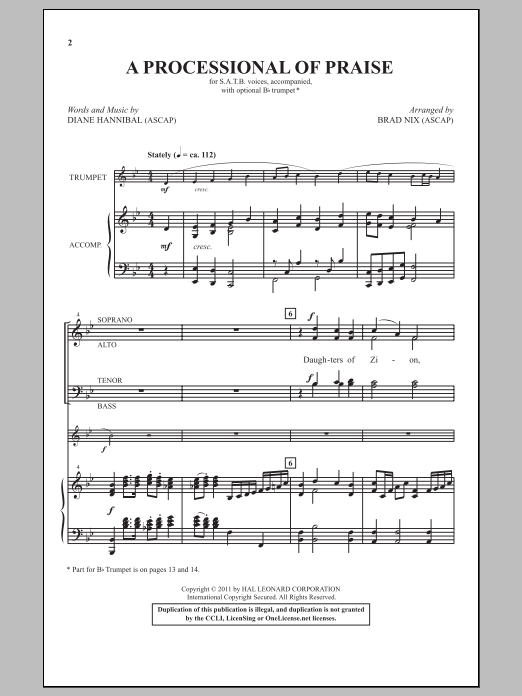 A Processional Of Praise Sheet Music