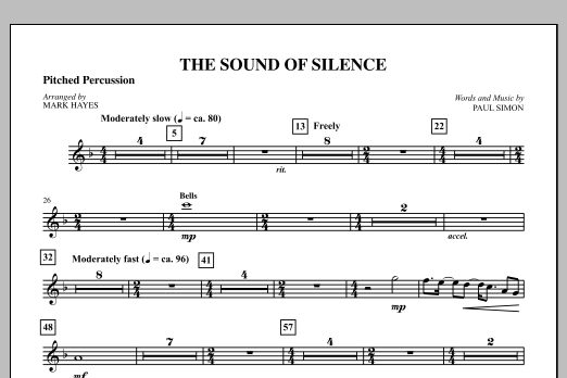 The Sound Of Silence (arr. Mark Hayes) - Percussion II (Choir Instrumental Pak)