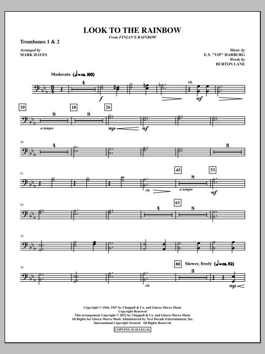 Look To The Rainbow - Trombone 1 & 2 (Choir Instrumental Pak)