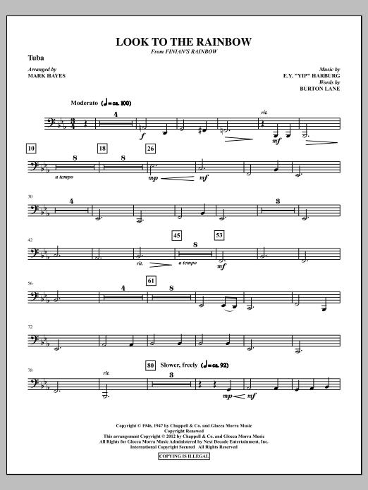 Look To The Rainbow - Tuba (Choir Instrumental Pak)