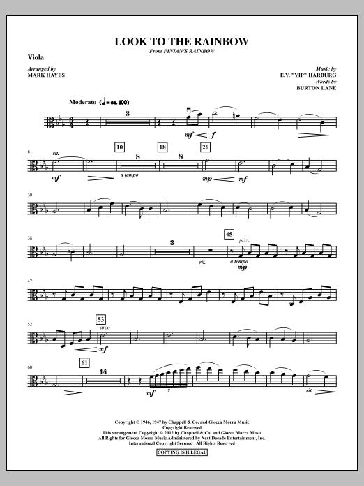 Look To The Rainbow - Viola (Choir Instrumental Pak)