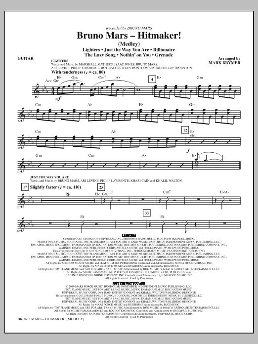 Bruno Mars: Hitmaker! (Medley) - Guitar (Choir Instrumental Pak)