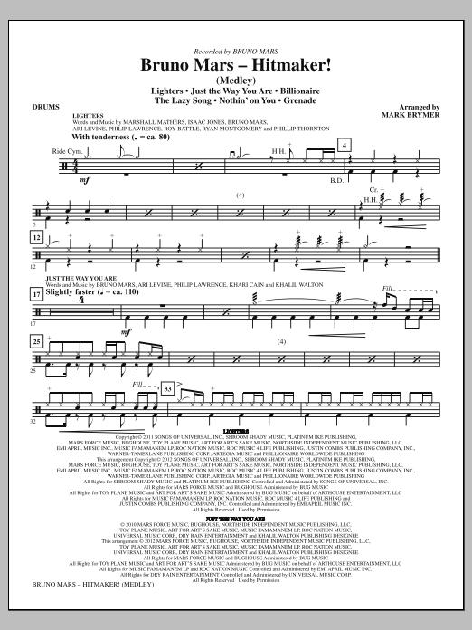 Bruno Mars: Hitmaker! (Medley) - Drums (Choir Instrumental Pak)