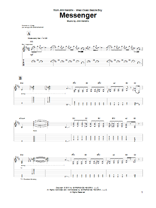 Messenger Sheet Music