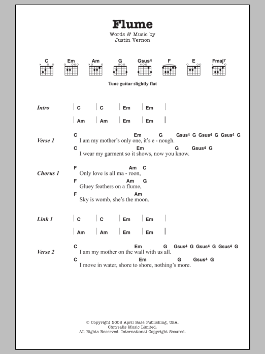 Piano skinny love piano tabs : Sheet Music Digital Files To Print - Licensed Bon Iver Digital ...