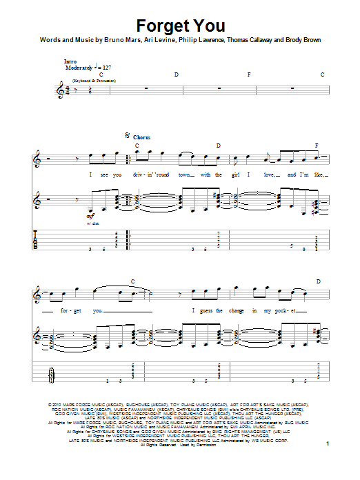 F**k You (Forget You) Sheet Music