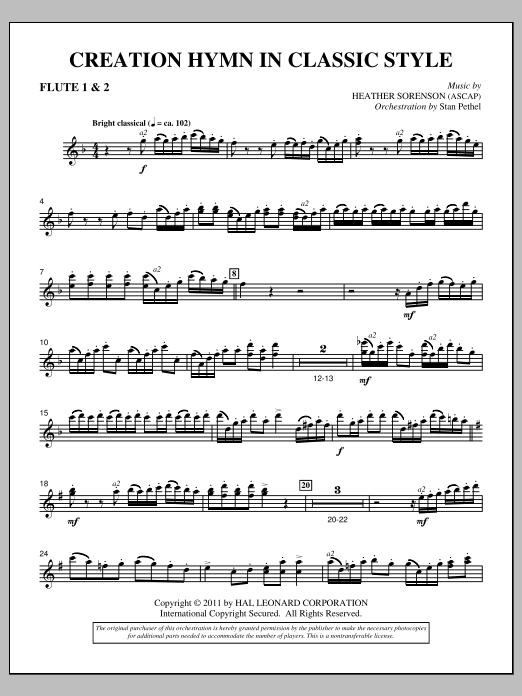 Creation Hymn In Classic Style - Flute 1 & 2 (Choir Instrumental Pak)