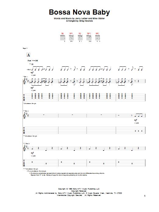 Bossa Nova Baby (Solo Guitar)