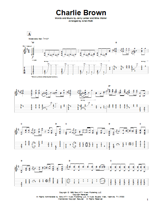 Charlie Brown (Solo Guitar Tab)